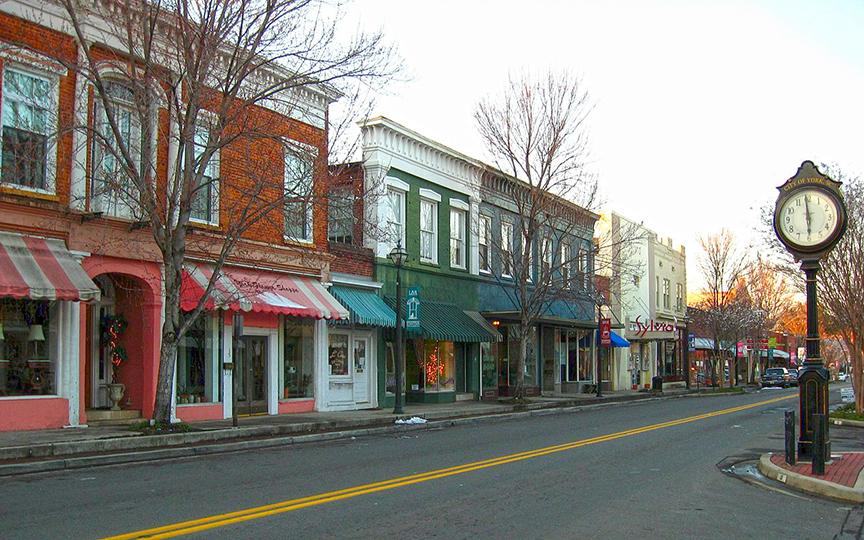 Downtown York, South Carolina, Route 321