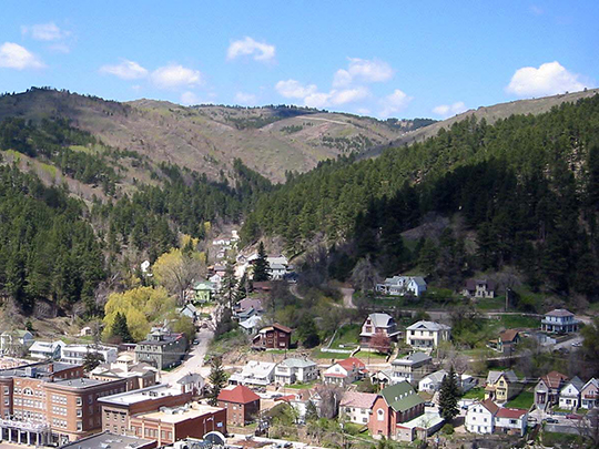 View of Deadwood from Mount Moriah, Deadwood City, Lawrence County, SD.