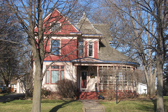 William G. Milne House, ca. 1902, 508 East 9th Street, Dell Rapids, SD, National Register
