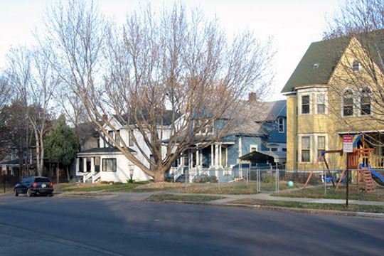 Residential street view, All Saints Historic District, Sioux Falls, SD, National Register