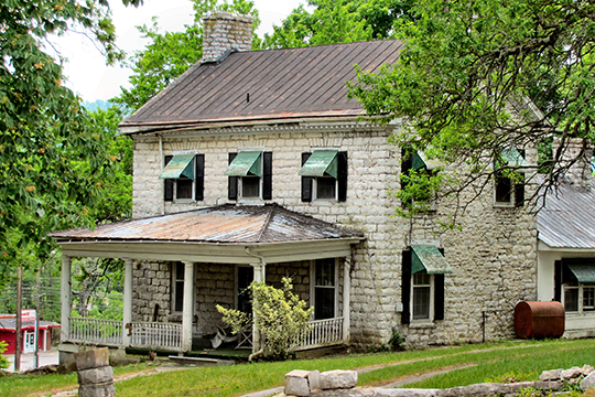 Graham-Kivett House (Greystone), ca. 1810, Main Street, Tazewell, TN, National Register
