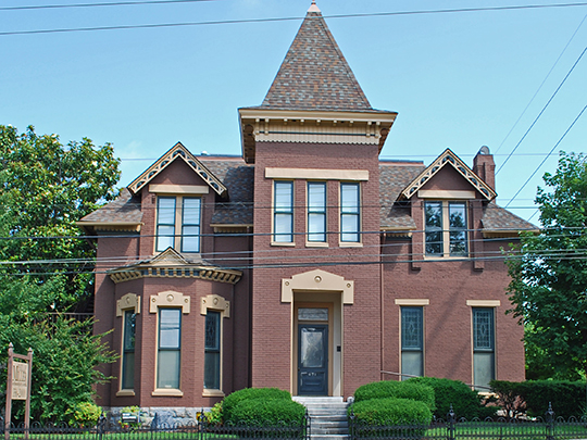 Miles House, ca. 1860, 631 Woodward Street, Nashville, TN, National Register