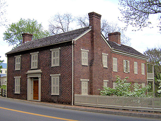 Andrew Johnson House, ca. 1830, Main Street at Depot Street, Greeneville, TN, National Register