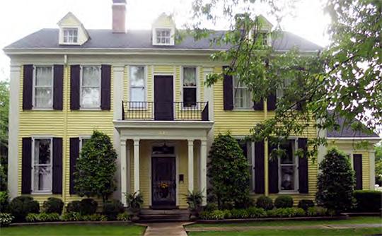 Taylor-King-Gruenewald-Watts House, ca. 1867, 324 N. Washington Avenue, North Washington Historic District, Brownsville, TN, National Register