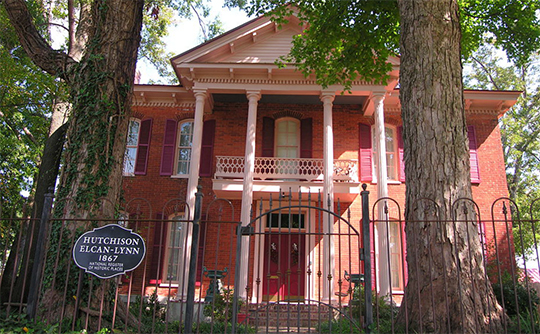 Joshua K. Hutchinson House, ca. 1867, 124 North Church Avenue, Brownsville, TN, National Register