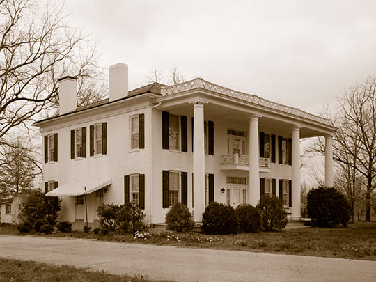 Atkins-Jackson House, ca. 1846, Dresden Highway (Route 54), Paris, TN
