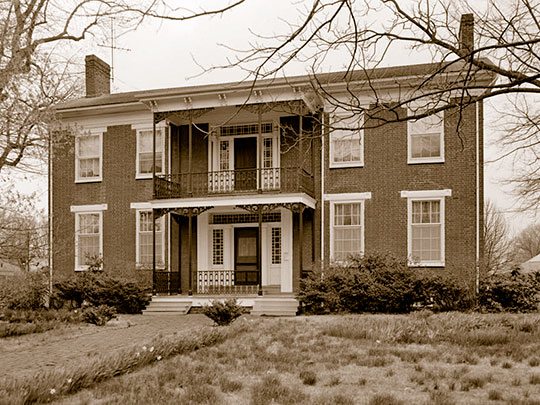 Porter House, ca. 1850, 407 South Dunlap Street, Paris, TN, National Register
