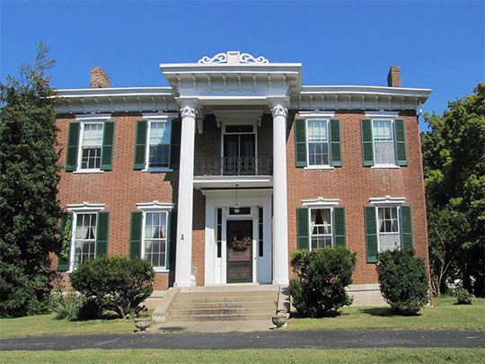 Oak Top, ca. 1857, 107 Madison Terrace, Clarksville, TN, National Register