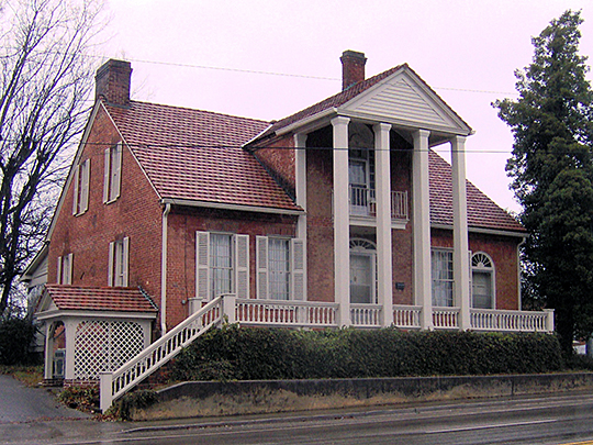 Colonel Gideon Morgan House, ca. 1810, 149 Kentucky Street, Kingston, TN, National Register
