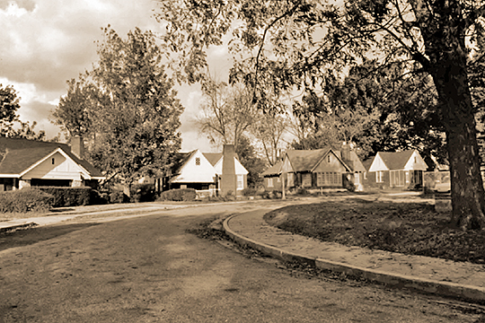 Homes on Shady Lane, Glenview Historic District, Memphis, TN, National Register