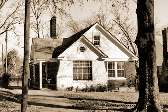 Home on Shadowlawn Boulevard, ca. 1930, Shadowlawn Historic District, Memphis, TN, National Register