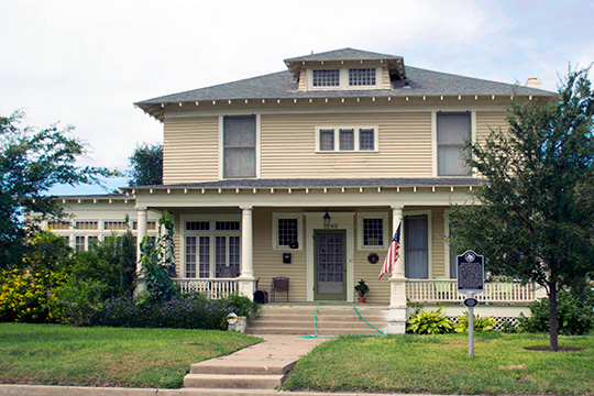 Hicks-Gregg House, ca. 1909, 1249 West Washington Street, Brownsville, TX, National Register