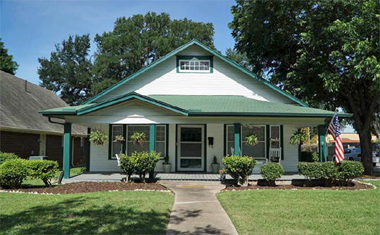 Home at 401 South 11th Street, ca. 1913, Travis College Hill Historic District, Garland, TX, National Register