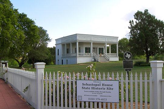 Sebastopol House, ca. 1855, 704 Zorn Street, Seguin, TX, National Register