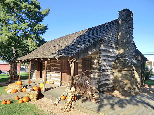 Torian Log Cabin, ca. 1845, Main Street, Grapevine, TX