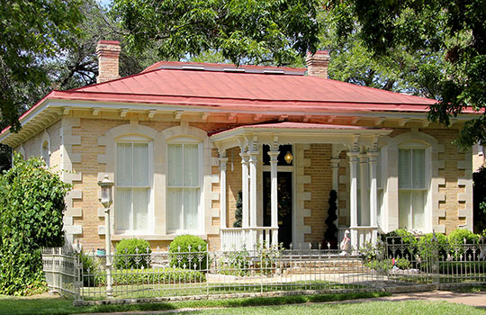 Smith-Clark and Smith-Bickler House, ca. 1883, 404 West 14th Street, Austin, TX, National Register