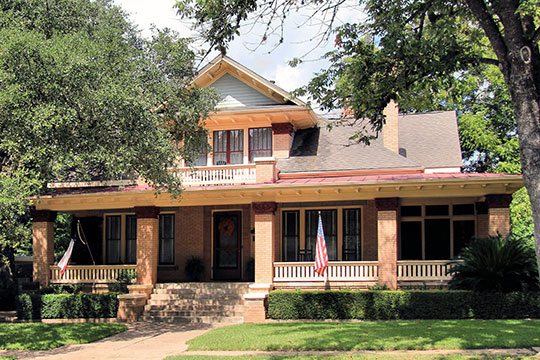 Edgar Matchett House, ca. 1916, 502 West Main Street, Brenham, TX, National Register