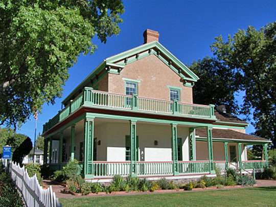 Brigham Young Winter Home and Office, ca. 1871, Corner of 200 North and 100 West, St. George, UT, National Register