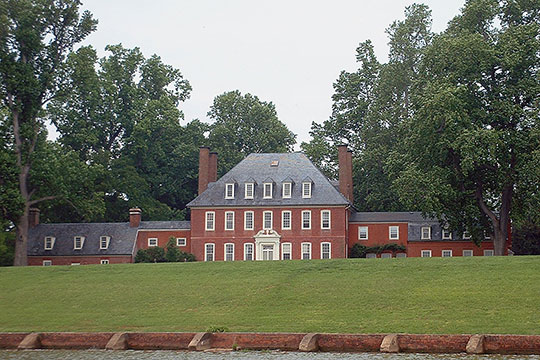 Westover Plantation House, ca. 1750, Virginia Route 5, west of Charles City, National Register