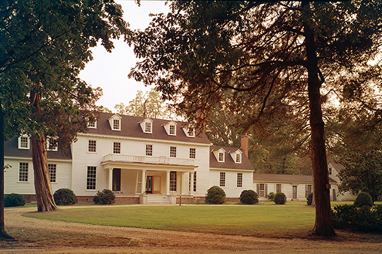 John Tyler House, ca. 1780, Sherwood Forest, Charles City, VA