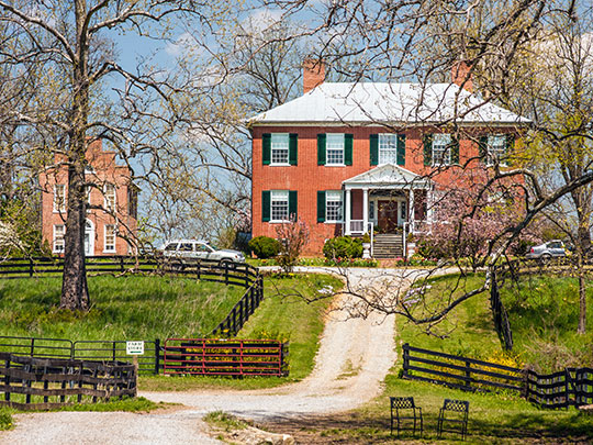 The Tuleyries, ca. 1833, Route 628, White Post, Clarke County, VA, National Regsiter