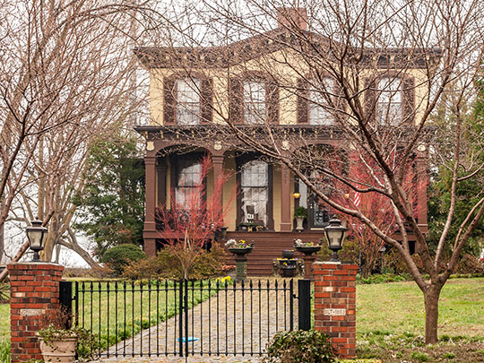 Hill Mansion, ca. 1857, 501 East Street, Culpeper, VA, National Register