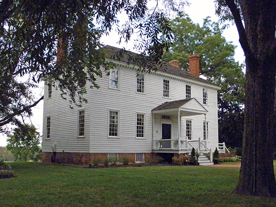Weston Manor, ca. 1780, Virginia Route 10, Hopewell, VA, National Register