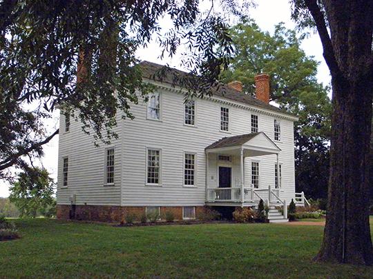 Weston Manor, ca. 1780, Virginia Route 10, Hopewell, VA, National Register