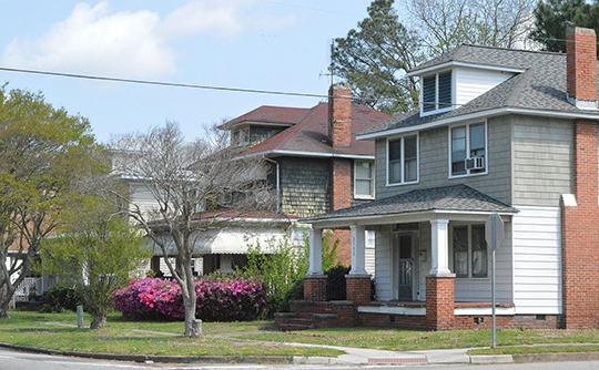 Homes on Ballentine Boulevard, Ballentine Place Historic District, Norfolk, VA, National Register