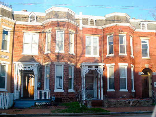Row homes in the Carver Residential Historic District, Richmond, VA, National Register