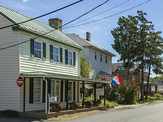 Street view, Lovettsville Historic District, Lovettsville, VA, National Register