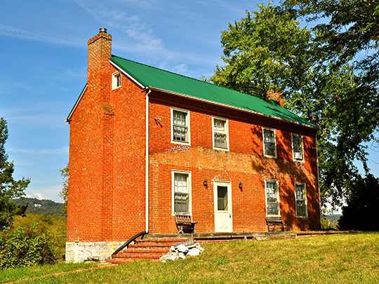 George Earhart House (Arrington House, Miller House), ca. 1840, Route 712 near Route 723, New Ellett, VA, National Register