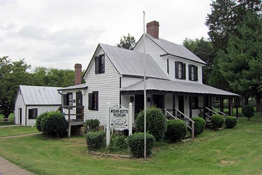 Weems-Botts House, ca. 1749, Duke and Cameron Streets, Dumfries, VA, National Register