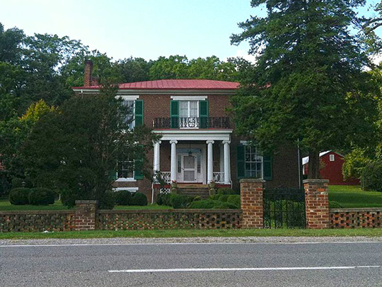 Pleasant Grove, ca. 1853, 4377 West Main Street, Salem, VA, National Register