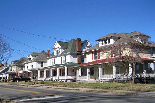 Homes on Riverland Road, Riverland Historic District, Roanoke, VA, National Register
