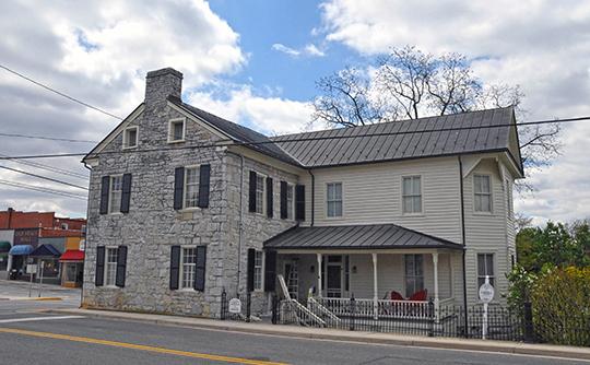 Haller-Gibboney Rock House, ca. 1823, 205 Tazewell Street, Wytheville, VA, Ntional Register