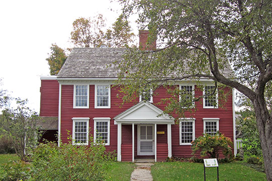 Dutton House, ca. 1782, moved from Cavendish in 1950 as an exhibit for the Shelburne Museum