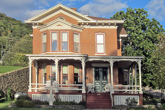 Frederick Laue House, ca. 1866, 1111 South Main Street, Alma, WI, National Register
