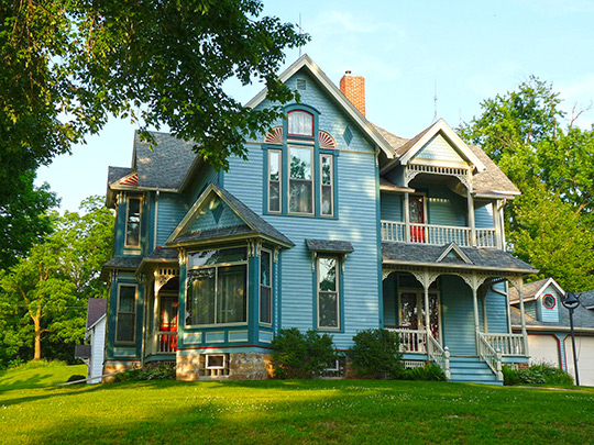 Decatur and Kate Dickinson House, ca. 1891, 411 State Street, Neillsville, WI, National Register