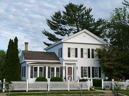 Jacob Weber House, ca. 1863, 825 Oak Street, Wisconsin Dells, WI, National Register