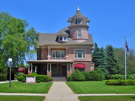 Urban J. Lewis House, ca. 1892, 6019 Seventh Avenue, Library Park Historic District, Kenosha, WI.