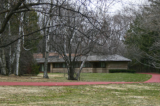 Albert and Edith Adelman House, ca. 1948, 7111 North Barnett Lane, Fox Point, WI, National Register