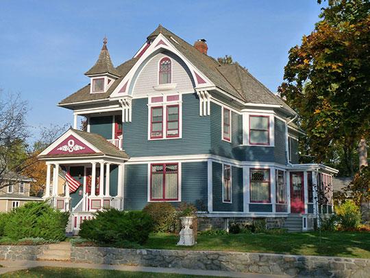 J.L. Jensen House, ca. 1901, 1100 Brawley Street, Stevens Point, WI, National Register