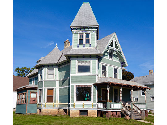 Home in the Bluff Street Historic District, Janesville, WI, National Register
