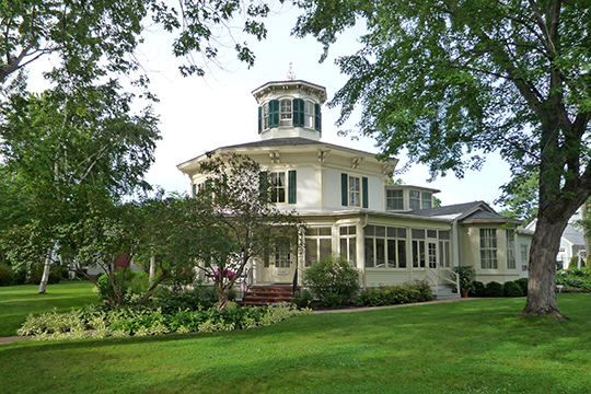 John S. Moffat House (Octagon House), ca. 1855, 1004 Third Street, Hudson, WI, National Register