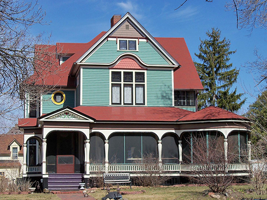 Dr. Samuel C. Johnson, ca. 1883, 405 Locust Street, Hudson, WI, National Register