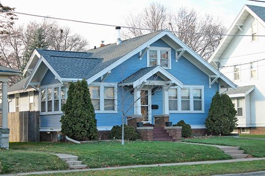1615 North Main Street (August G. & Anna Kleman House), ca. 1925, North Main Street Bungalow Historic District, Oshkosh, WI, National Register