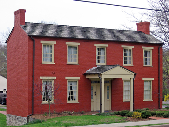 Delta Tau Delta Founders House, ca. 1855, 211 Main Street, Bethany, WV, National Register