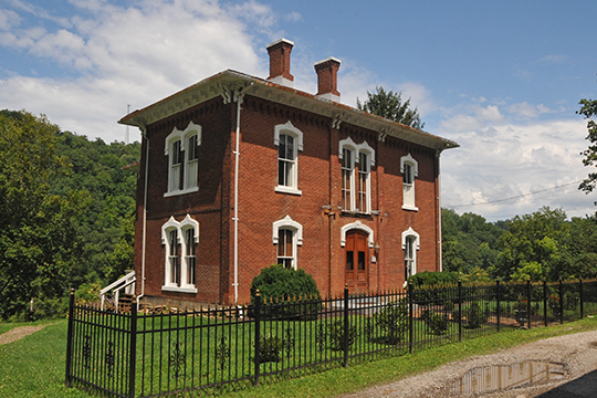 Lathrop Russell Charter House, ca. 1877, 109 High Street, West Union, WV, National Register