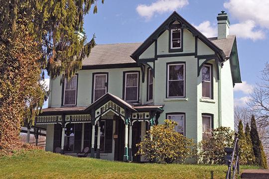Talbott-Moore-Warren-Sleigh House, ca. 1839, 454 Main Avenue, Weston Downtown Residential Historic District, Weston, WV, National Register